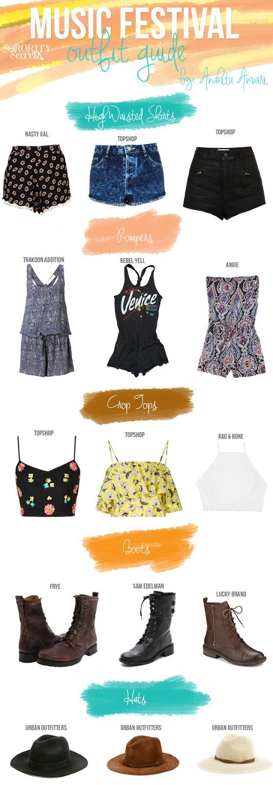 Music Festival Outfit Guide. Let the shopping begin.