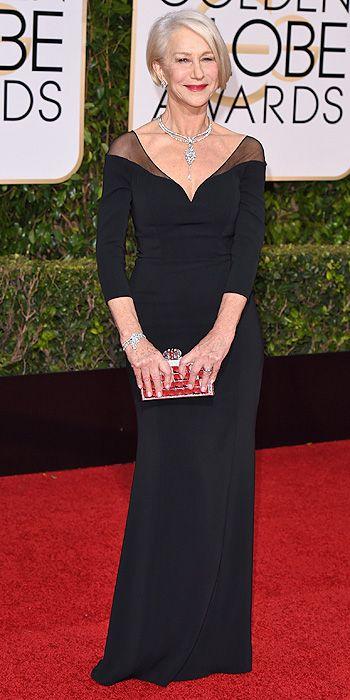 Golden Globe Awards 2016: Arrivals : Helen Mirren. This woman has fabulous style.