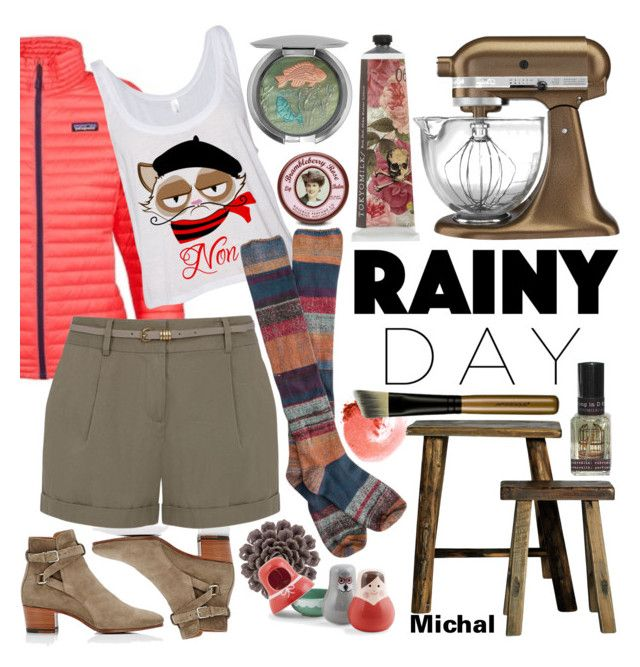 """""""Rainy Day Style"""" by michal100-15-4 ❤ liked on Polyvore featuring Patagonia, Yves Saint Laurent, Oasis, KitchenAid, TokyoMilk, WALL, Kikkerland, Chantecaille, Rosebud Perfume Co. and NARS Cosmetics"""