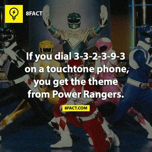 The Power Rangers theme song.