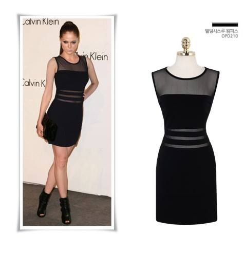 HQ 3326 Black Gauze Dress. Fabric cotton+gauze (elastic good) Bust 85-88 Shoulder 38 Waist 75-78 Length 85
