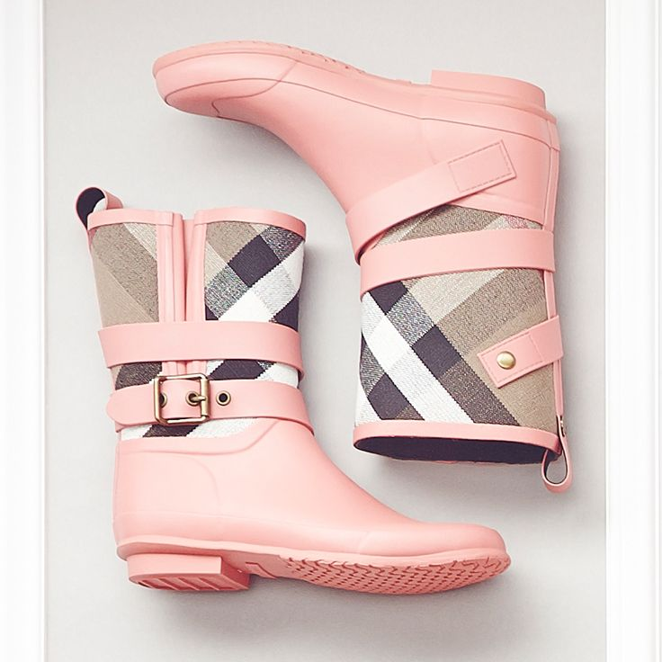 These Burberry boots were made for puddle jumping. (Don't act like you won't.) #Burberry #Style #Spring