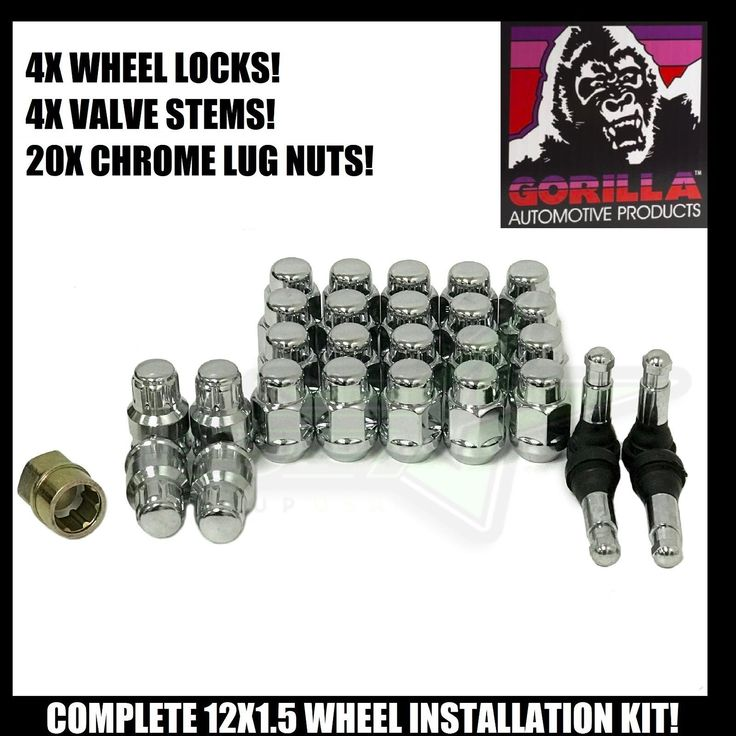 Cool Awesome 20 TOYOTA LEXUS CHROME LUG NUT INSTALLATION KIT 12X1.5 FOR ALL AFTERMARKET RIMS 2018
