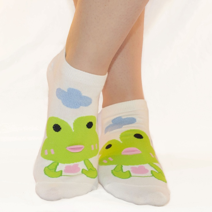 Fat Lip Frog Socks |The Sock Market - Colorful, Cute and Crazy Low Cut, Ankle, and No Show Korean Socks