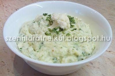 Szénhidrátmentes, fehérjedús diétás és fitness receptek fogyókúrához, Atkins diétához, sportoláshoz: Karfiolpüré - szénhidrátszegény alternatíva krumplipürére