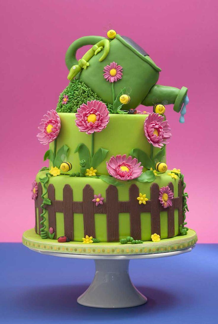 Gardening cake... Happy harvest!
