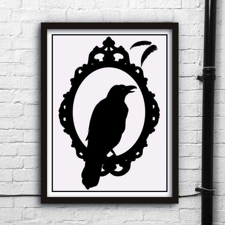 Poe's Raven - Nevermore Euro 5.30 Direct download on  https://www.etsy.com/listing/251554374/printable-digital-art-poes-raven?ref=shop_home_feat_1