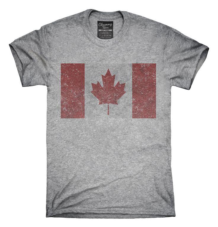 Retro Vintage Canada Flag T-Shirts, Hoodies, Tank Tops