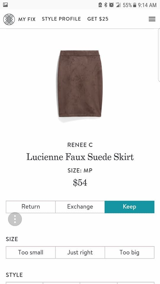 Faux anything! Looking for a cool skirt. Preferably black, gray, purple or blue, but also love this brown.