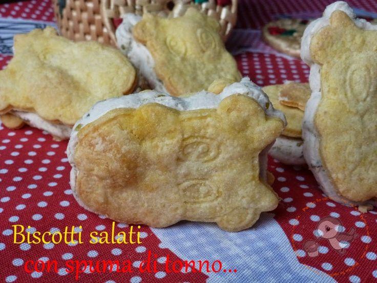 Puffin in cucina e non solo...: Biscotti salati con spuma di tonno...la mia mucca Petronilla ^_-