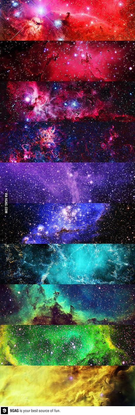 All the colors of the universe, rainbow colors.