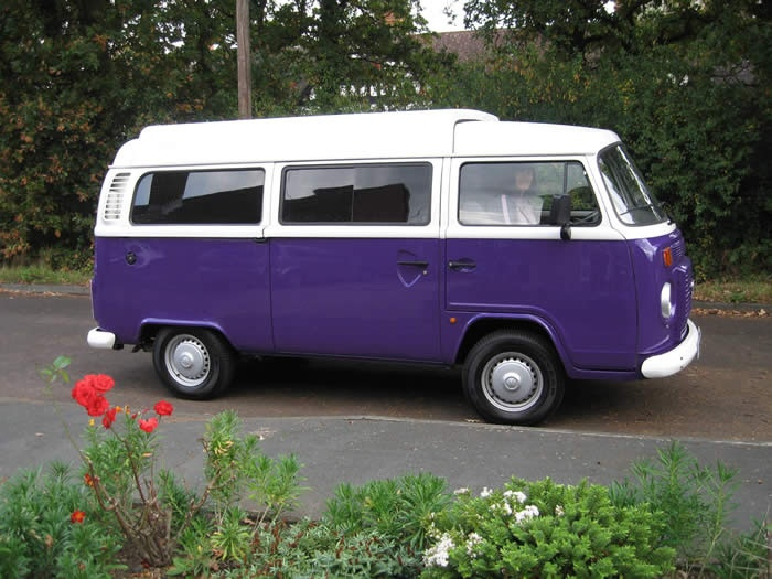 I guess I never realized there was a  purple VW Camper...I would have had one.
