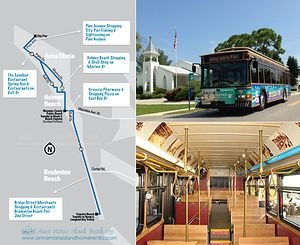 Insider's Guide to the Free Trolley on Anna Maria Island, FL www.annamariaislandhomerental.com FB: Anna Maria Island Beach Life Twitter: AMIHomerental