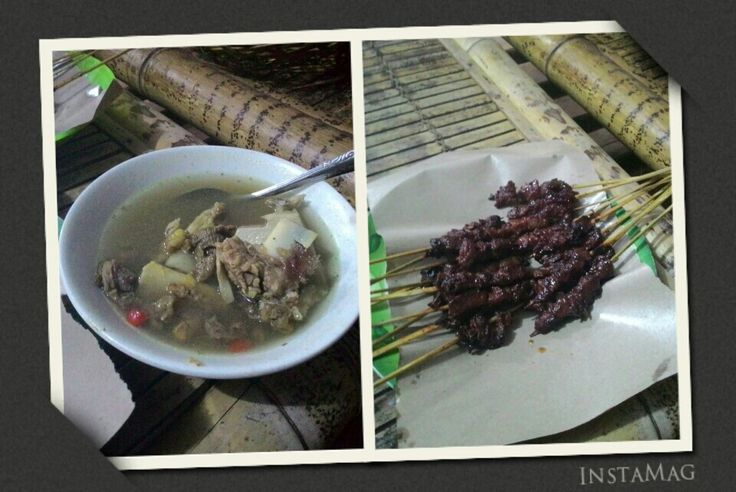 sate rambige & bebalung, makanan khas lombok
