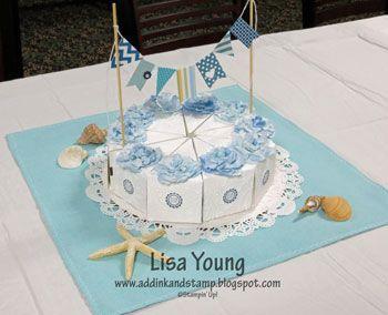 Cake Slice Box Centerpiece for Bridal Shower