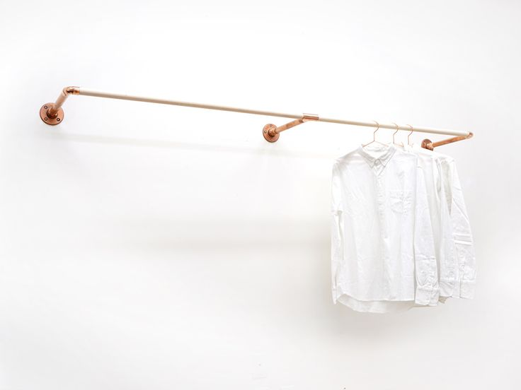 W-Rack • Wall Mount Clothing Rack by SamichiDesign on Etsy https://www.etsy.com/listing/246845517/w-rack-wall-mount-clothing-rack
