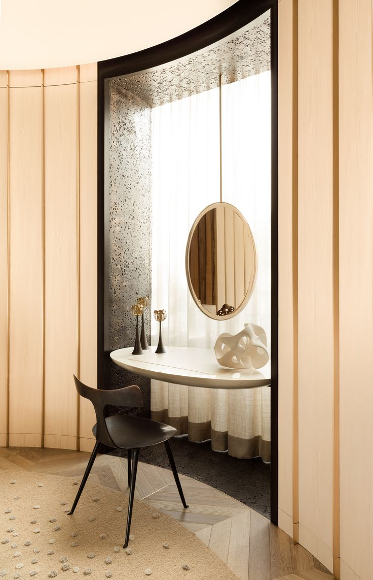 Wall mounted dressing table designs for bedroom - Love The Subtle Elegance Of This Little Private Spot Damien Langlois Meurinne Google Search Dressing Areadressing Tablesdressing Roomsdressing