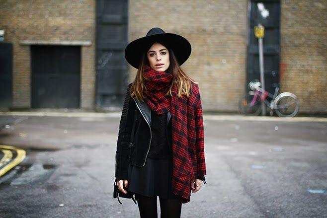 Este invierno: sombreros de ala ancha y maxi scarfs