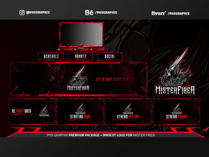 Full Twitch Package For MISTER FIRE A in 2020 Twitch