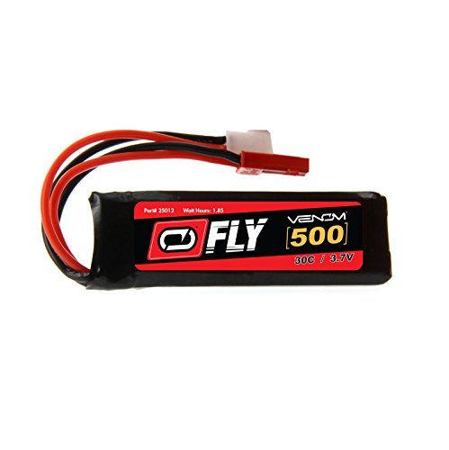 Venom Fly 30C 1S 500mAh 37V LiPo Battery with Micro Losi and JST Plug  Compare to Eflite EFLB5001S25 ** Read more reviews of the product by visiting the link on the image.Note:It is affiliate link to Amazon.