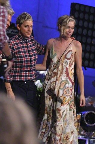 Ellen and Portia DeGeneres — Ellen DeGeneres and her wife Portia De Rossi at...