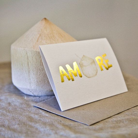 She Eats Paper - Amore gold stamped by sheeatspaper on Etsy ($6.50) ... mother's day card?