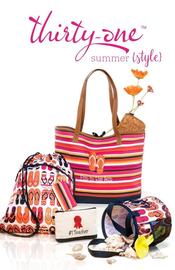 Thirty-One Gifts Summer style guide One Consultant www.partywithHope.com #summer #thirtyone #joinme #findaconsultant #totes