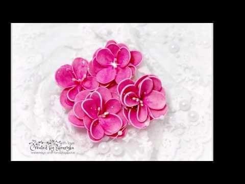 Foamiran Flower without die cut - YouTube