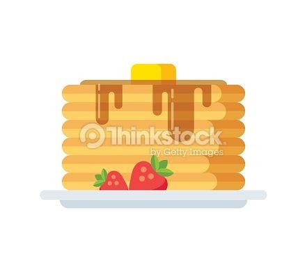 Vector Art : Vector pancakes icon
