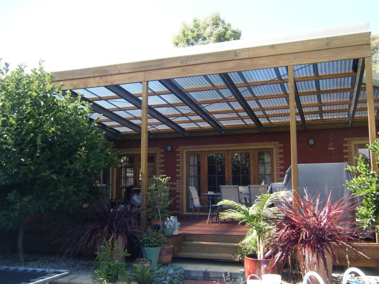 Wooden Roof Deck With Blue Acrylic Panel For Outdoor Patio
