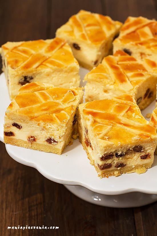 sernik krakowski, tradycyjny sernik, sernik krakowski z kratką, Polish cheesecake,