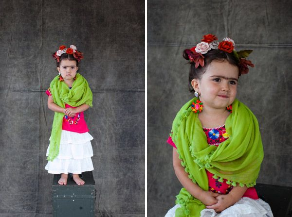 Hysterical kids' Halloween costumes that they're too young to understand. This one is Frida Kahlo