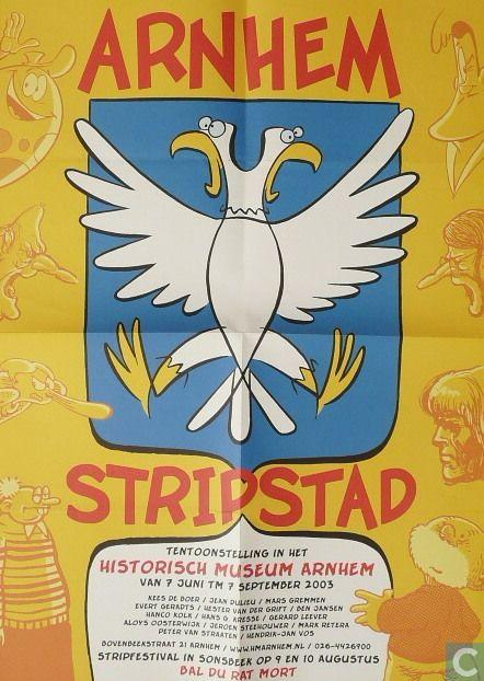 Voorkant affiche Arnhem Stripstad, 2003, HMA