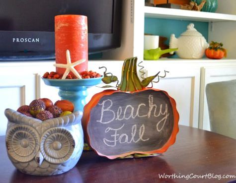 Coastal Fall Home Tours: http://www.completely-coastal.com/2015/09/coastal-fall-home-tours.html Have a coastal beachy Fall!