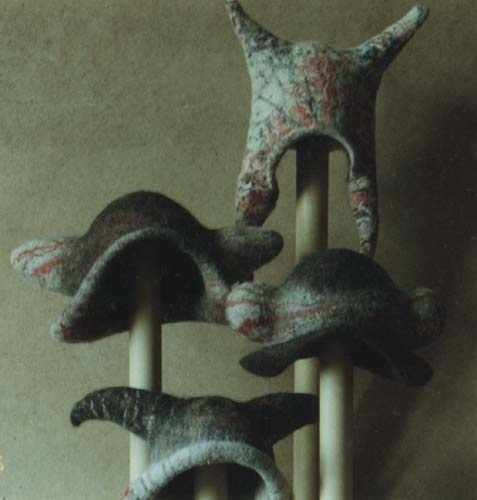 I love these hats for a carnival by A. Pilin.
