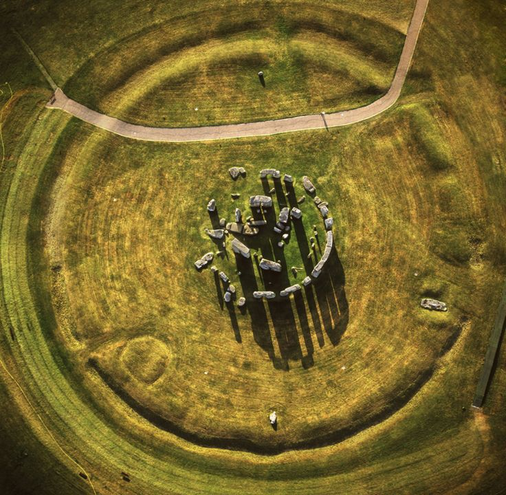 Overhead view of Stonehendge, Although it is is in my Celtic board, it is suggested that the construction began before the Celtic era in Prydain