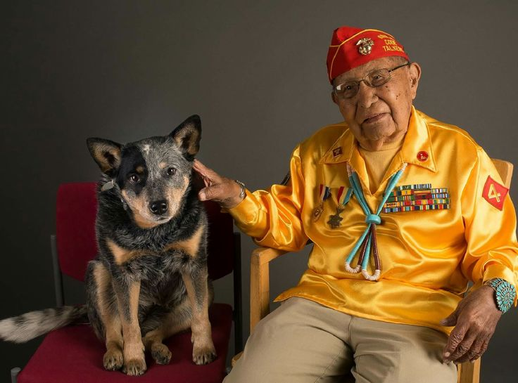 Chama and I love our veterans. We volunteer for them and we are related to them (Jason Collins, Conrad Collins, Blake Collins, Gilbert Luna, Al Lorio....brothers, nephew and uncles), and Happy Birthday to Mr. Patterson, born on Veteran's Day, it makes sense you became a Code Talker!!!