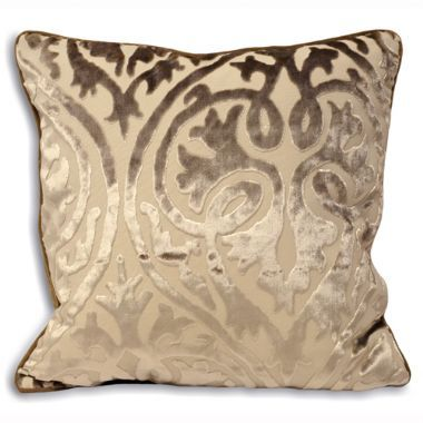 Romeo Cream Damask Cushion Cover - £15 | brandinteriors.co.uk