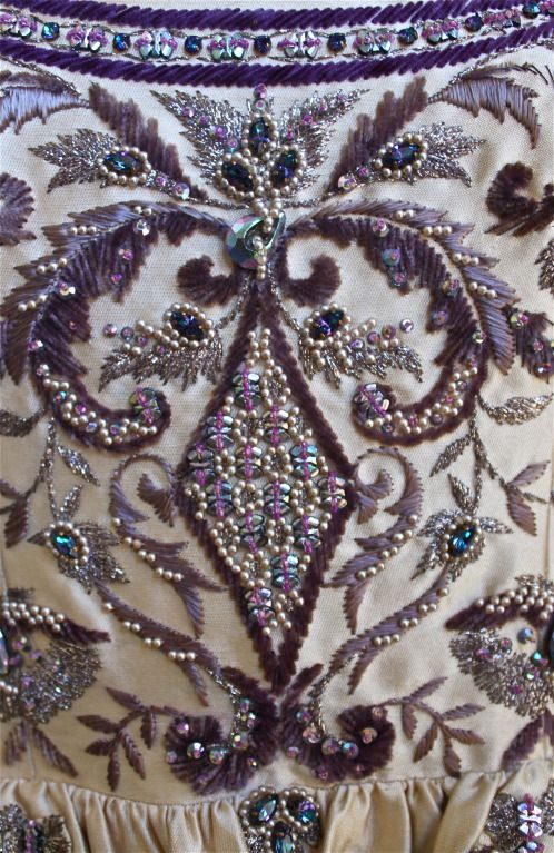 JEANNE LANVIN haute couture gown with Lesage embroidery & beading