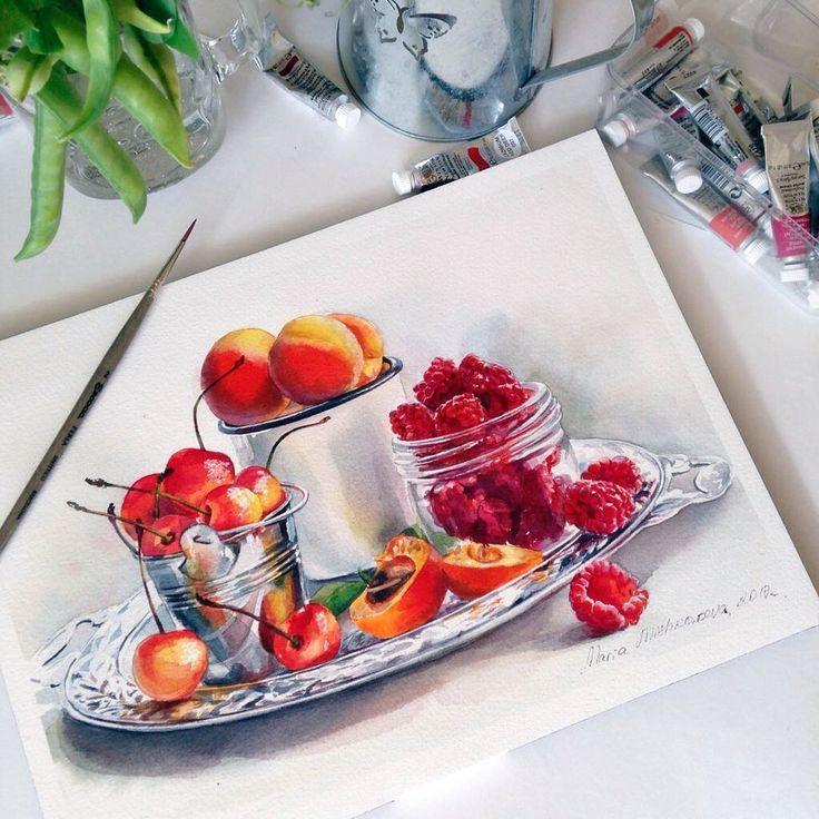 "4,105 Likes, 4 Comments - Watercolor illustrations (@watercolor.illustrations) on Instagram: "" Watercolorist: @maria.mishkareva #waterblog #акварель #aquarelle #drawing #art #artist #artwork…"""