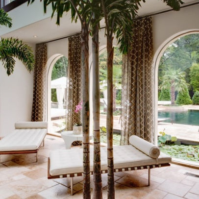 Tropical home window treatments design ideas pictures for International decor window treatments