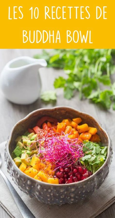 Voici 10 recettes de Buddha Bowl repérées sur Pinterest