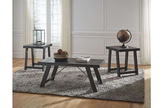 Noorbrook Table Set Of 3 With Images Living Room Sets Furniture Coffee Table