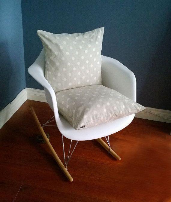 Shabby Chic French Beige Polka Dot Pillow Cover Nursery