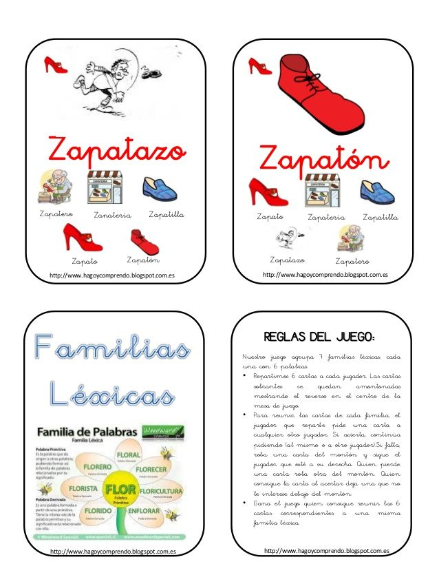 Baraja familias lexicas
