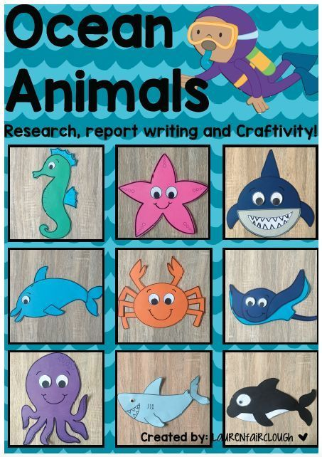 Under the Sea, Ocean Theme Writing and Craft Activities