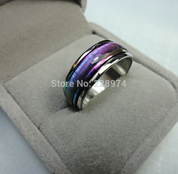 Punk Gradient Rainbow Finger Rotatable Ring Engagement Rings for Men Women Vintage Anillo Bague Bijoux Femme Fashion Jewelry