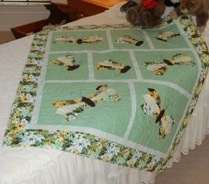 Dresden Butterfly Baby Quilt http://quilting.myfavoritecraft.org/baby-quilt-patterns/