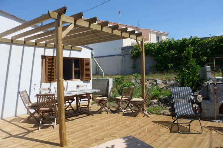 #Pergola adossée à votre maison #aménagement #terrasse #pergola #bois
