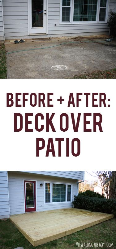 Build A Deck Right Over An Old, Ugly Patio For A Beautiful Backyard Upgrade!